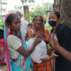 Relief supply camp organized