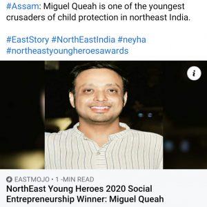 UTSAHs Executive Director awarded the Northeast Young Heroes Award 2020: